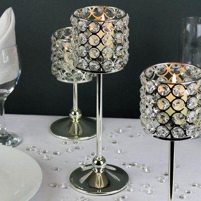 Candle holder crystal